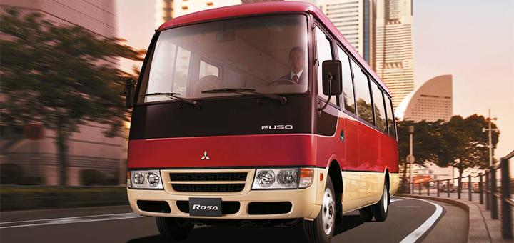 Cómo manejar un bus FUSO Rosa de forma prudente
