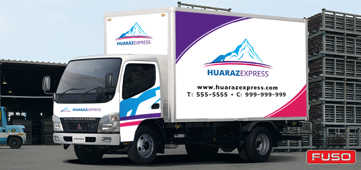 4 Razones para colocar el logotipo de tu empresa en tu camión