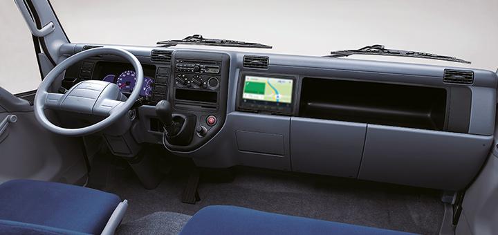 Los camiones Canter cuentan con display audio
