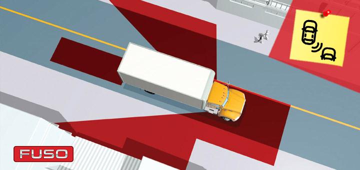 fuso evitar puntos ciegos manejar tu camion de carga