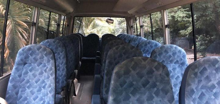 aspira los asientos de tu bus