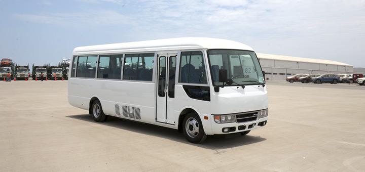 comprar bus rosa mitsubishi fuso exterior