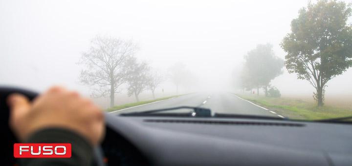conducir carretera neblina