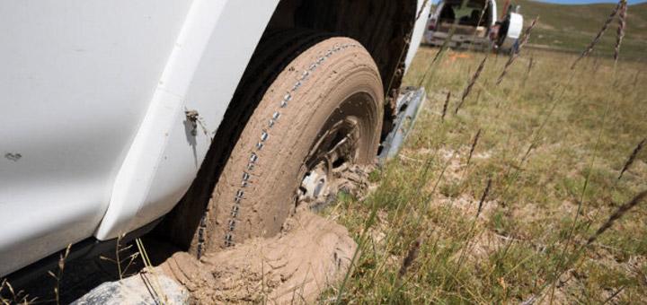 Camión  llanta lodo